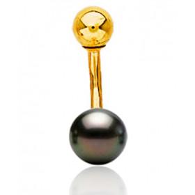 Piercing de nombril en or jaune et perle de Tahiti