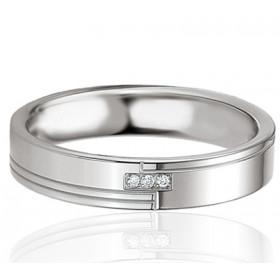 Bague alliance Breuning argent et diamant 0,017 carat Belina pour femmes