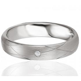 Bague alliance Breuning argent et diamant 0,015 carat Candice pour femmes