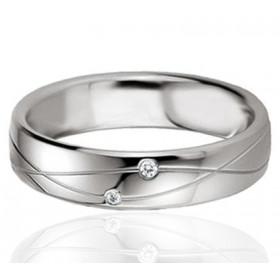 Bague alliance Breuning argent et diamant 0,020 carat Iolana pour femmes