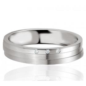 Bague alliance Breuning argent et diamant 0,017 carat Eleonoria pour femmes