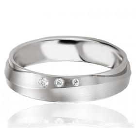 Bague alliance Breuning argent et diamant 0,036 carat Delphina pour femmes