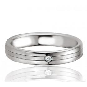 Bague alliance Breuning argent et diamant 0,020 carat Carolina pour femmes