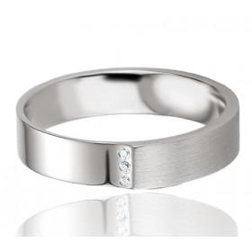 Bague alliance Breuning argent et diamant 0,017 carat Claudina pour femmes