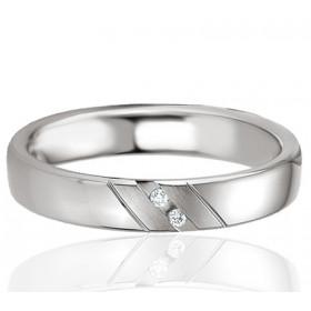 Bague alliance Breuning argent et diamant 0,020 carat Emmy pour femmes