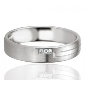 Bague alliance Breuning argent et diamant 0,017 carat Faustine pour femmes