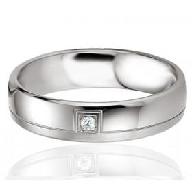 Bague alliance Breuning argent et diamant 0,020 carat Laureen pour femmes