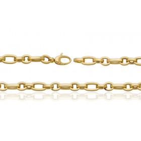Bracelet or jaune 18 carats maille alternée