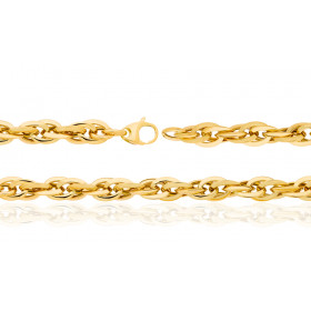 Bracelet or jaune 18 carats maille enchevêtrée