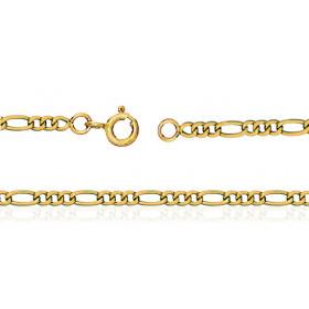 Chaine de cheville en or jaune 18 carats pour femmes maille cheval