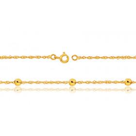 Bracelet or jaune 18 carats Singapour et boules