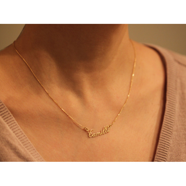 collier prenom femme or