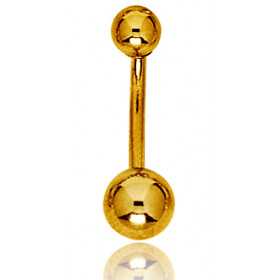 Piercing nombril or jaune 18 carats