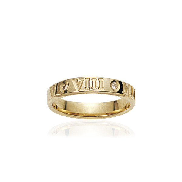 bague alliance Lucien Pfertzel or jaune 18 carats et diamant romaine
