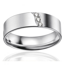 Bague alliance lucien Pfertzel platine diamant 0,042 carat