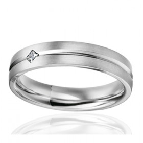 Bague alliance lucien Pfertzel platine diamant 0,050 carat