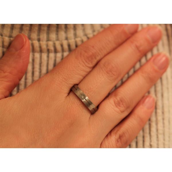 Bague alliance lucien Pfertzel platine diamant 0,050 carat