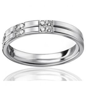Bague alliance lucien Pfertzel platine diamant 0,27 carat