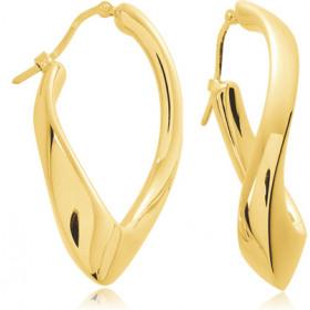 boucles d'oreilles or jaune créoles électroformés