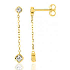 pendants or jaune 18 carats et diamant 0,06 carat pour femme