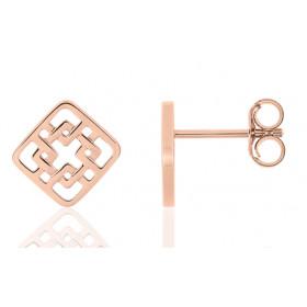 Boucles d'oreilles design   en or rose 18 carats pour femme