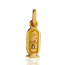"""Pendentif or 18 carats """"cartouche egyptien"""""""