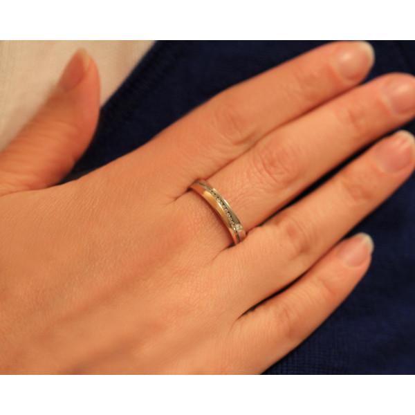 Bague alliance Huber & Klein deux ors   18 carats et diamants 0,44 carat