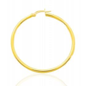 boucles d'oreilles or jaune 18 carats créoles pour femmes