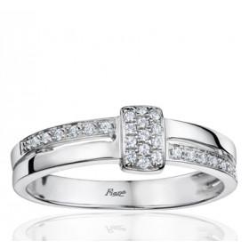 Bague Fiana joaillerie en or blanc 18 carats, diamant 0,203 carat