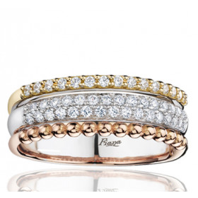Bague Fiana joaillerie en or blanc 18 carats, diamant 0,33 carat