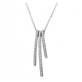 Collier Fiana joaillerie en or blanc 18 carats, diamant 0,46 carat