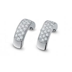 Boucles d'oreilles Fiana joaillerie en or blanc 18 carats, diamant 0,33 carat