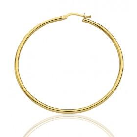 boucles d'oreilles créoles pour femmes en or jaune 18 carats