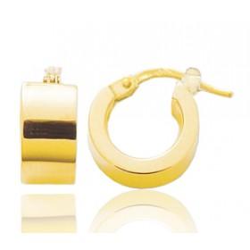 Boucle d'oreilles créole en or jaune 18 carats 14 mm pour homme