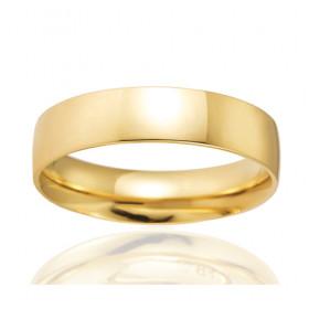 Bague alliance Breuning en or jaune 18 carats pour hommes