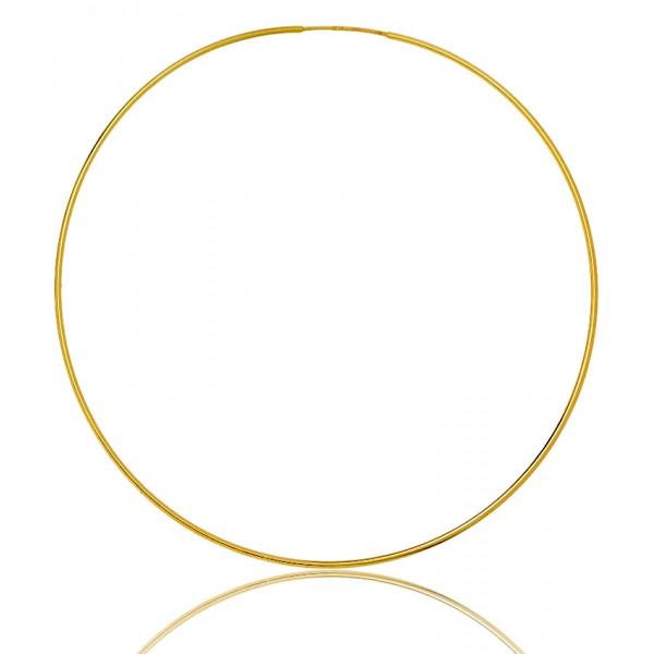 boucles d'oreilles femme créoles or jaune 18 carats de diamètre 60 mm