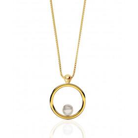 """Collier 42 cm avec perle de culture """"Romy"""" or jaune 18 carats Thomas Escudier"""