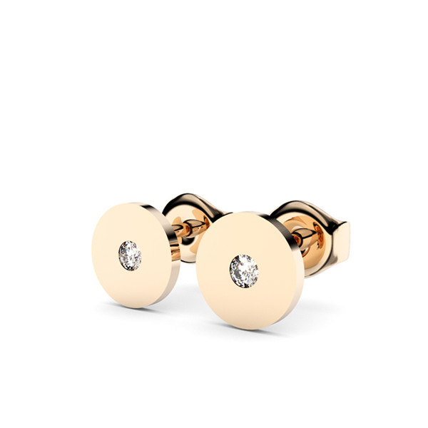 Boucles d'oreilles or jaune 18 carats et diamants Thomas Escudier cercle