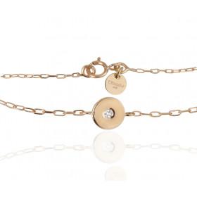 Bracelet or jaune 18 carats et diamant Thomas Escudier