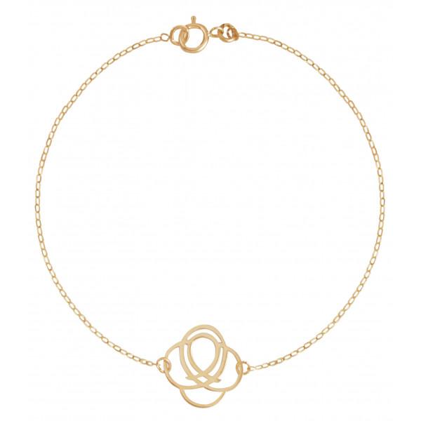 Bracelet Mistinguette en or jaune 18 carats modèle Saint-Barth - 17 cm