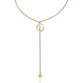 Collier Mistinguette en or jaune 18 carats modèle rond - 42 cm