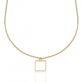 Collier Mistinguette en or jaune 18 carats modèle carré - 42 cm