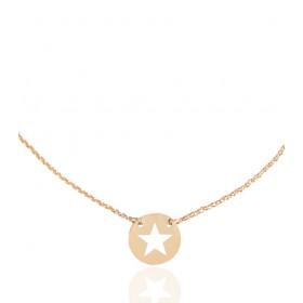 Collier Mistinguette en or jaune 18 carats modèle étoile - 42 cm
