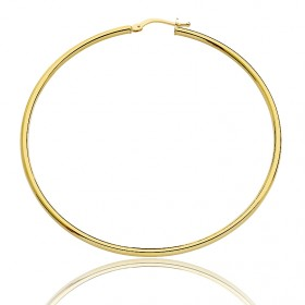 créoles en or jaune 18 carats de diamètre 55 mm