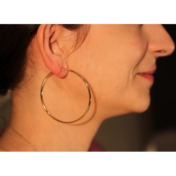 boucles d'oreilles créoles en or pour femme
