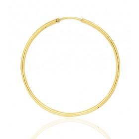 boucles d'oreilles femme or jaune 18 carats créoles 35 mm