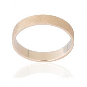 Bague alliance ATELIER P. en or jaune 18 carats feuilleté pour femme modèle - 4 mm
