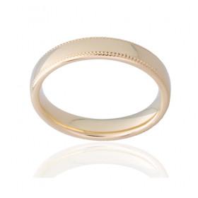Bague alliance ATELIER P. en or jaune 18 carats pour femme - 4 mm