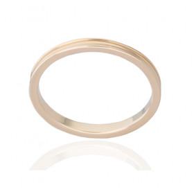 Bague alliance ATELIER P. en or jaune 18 carats pour femme 2 mm