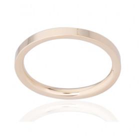 Bague alliance ATELIER P. en or jaune 18 carats pour femme 2 mm ruban plat